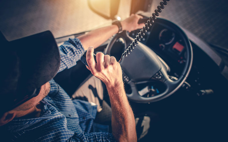 Tractor Trailer Truck Interior